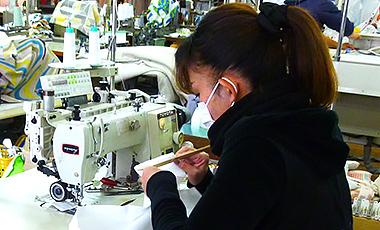 製品の質を左右するのは、縫製技術です。