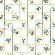 08_チェックに小花